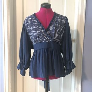 BCBG blue Blouse